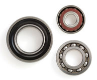 Bearings on white background. Bearings tool on white background royalty free stock photography