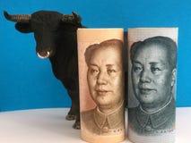 Bearish no yuan imagens de stock royalty free