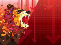 Bearish symbols on stock market vector illustration. vector Forex or commodity charts, on abstract background. The symbol of the t. He Bear. The stock market vector illustration