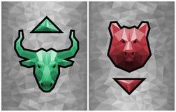 Bullish And Bearish Trends vector illustration