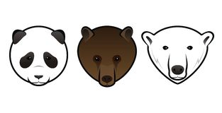 Bears. Panda grizzly and polar bears Royalty Free Stock Images