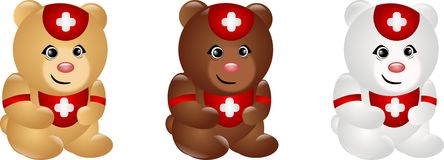 Bears as paramedics Royalty Free Stock Photography