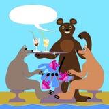 Bears on the beach stock photo