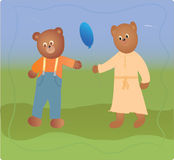 Bears-boy and girl Royalty Free Stock Photography