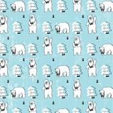Bears and Camera with pattern Stock Images