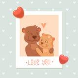 Bears - cartoon characters Royalty Free Stock Photo