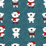 Bears Christmas seamless pattern stock image