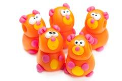 Bears clay toys Royalty Free Stock Photo