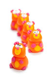Bears clay toys Stock Images