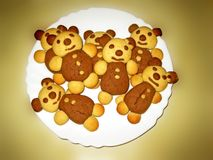 Bears cookies Stock Photo