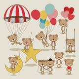 Bears design. Over beige  background vector illustration Stock Photo