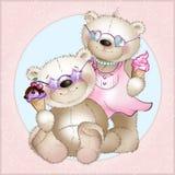 The bears eat ice cream Stock Photos