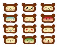 Bears emoticons. Stock Image