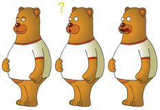Bears with expressions Stock Image