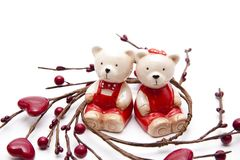Bears with heart Royalty Free Stock Image