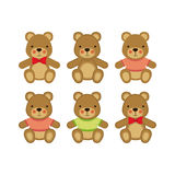 Bears icons Royalty Free Stock Photos