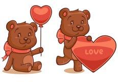 Bears isolated on white background Stock Image