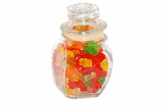Bears in the jar. Stock Photos