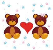 Bears and Love Stock Photography