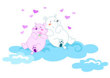 Bears in love 2- vectorial illustration Royalty Free Stock Images