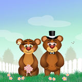 Bears in love Royalty Free Stock Photo