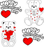 Bears in love Stock Images