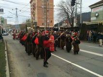 Bears masks parade Royalty Free Stock Photos