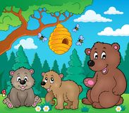 Bears in nature theme image 3 Royalty Free Stock Photos