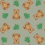 Bears ornament on a green background Royalty Free Stock Photography