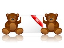 Bears 80 percentage off. On a white background Royalty Free Stock Image