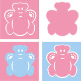 Bears pink and blue Royalty Free Stock Photo
