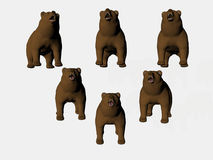 Bears On Point Royalty Free Stock Photo