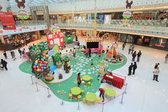 Bears' school Easter decoration and workshop in Hong Kong Stock Image