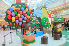 Bears' school Easter decoration and workshop in Hong Kong Royalty Free Stock Photos