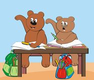 Bears - at school Stock Photos