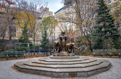Bears sculpture at Central Park - New York, USA Stock Images
