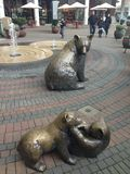 Bears Sculpture Stock Photography