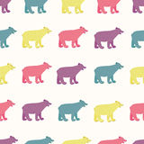 Bears seamless pattern. Stock Images