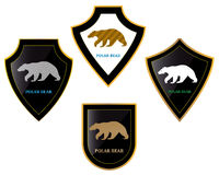Bears and shields Stock Image