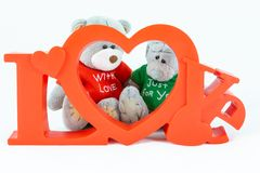 Bears with love stock image