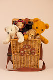 Bears in toy box Royalty Free Stock Image