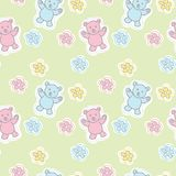 Bears Toys Seamless Pattern Stock Image