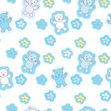 Bears Toys Seamless Pattern Royalty Free Stock Photography