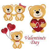 Bears for valentines day Royalty Free Stock Photo