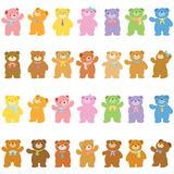 Bears variety acting Royalty Free Stock Image