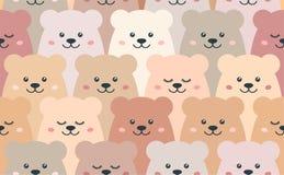 Bears. Vector illustration. Cartoon bears. Seamless vector pattern Stock Image