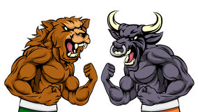 Bears Versus Bulls Stock Market Concept Royalty Free Stock Photography