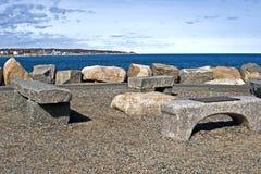 Bearskin-Stutzen, Rockport Stockbild