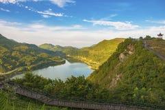 Beautiful tea plantation in China stock photos