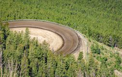Beartooth风景弯曲的高速公路 蒙大拿,怀俄明 美国 免版税库存照片